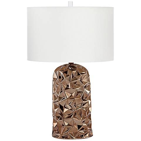 Igneous Bronze Glaze Ceramic Table Lamp