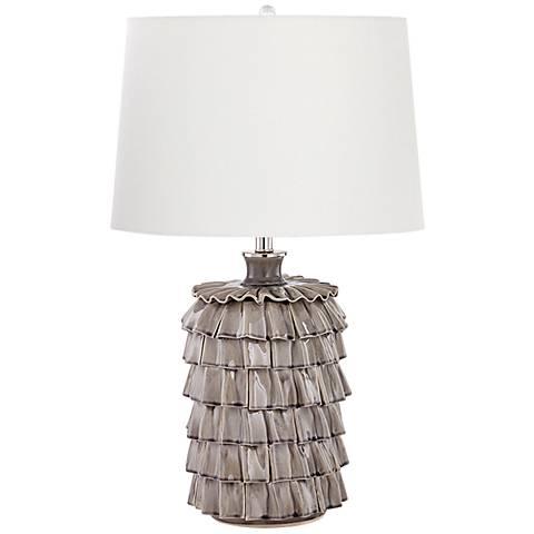 Antoinette Nickel Glaze Ceramic Table Lamp