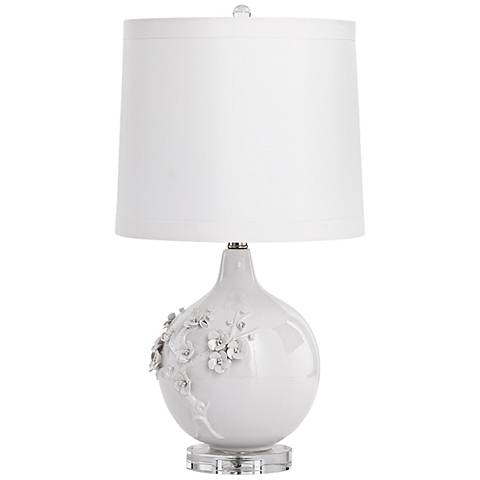 Leandra White Ceramic Table Lamp
