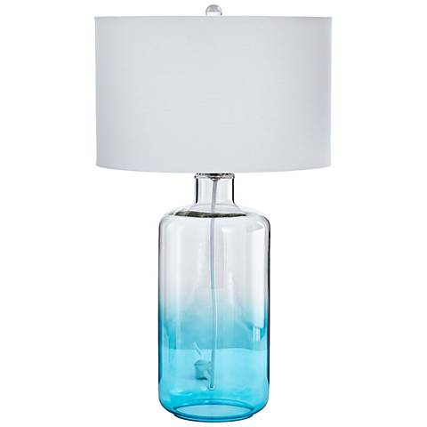 Cabra Blue and Clear Glass Table Lamp