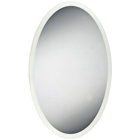 "Eurofase Edge-Lit 23 1/2"" x 35 1/2"" Oval LED Wall Mirror"