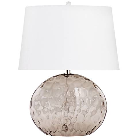 Sturgeon Smoke Gray Glass Table Lamp