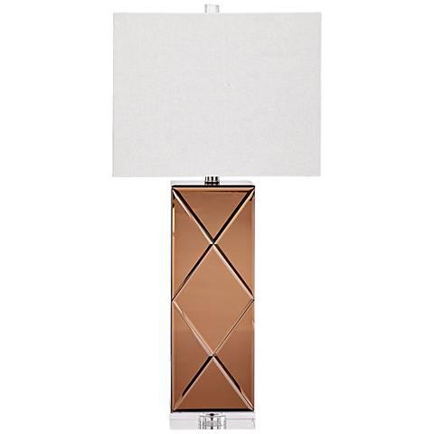 Sarda Copper Glass Table Lamp