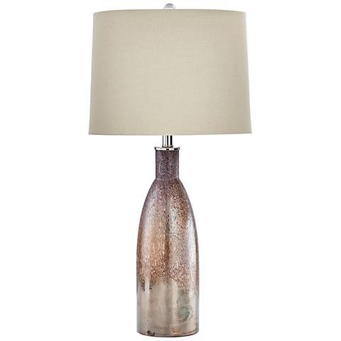 Bernadine Brown Glass Table Lamp