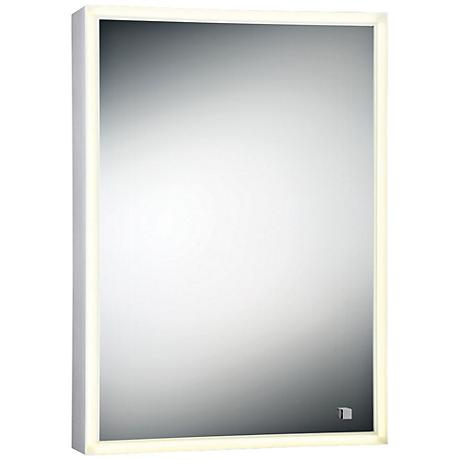 "Eurofase Edge-Lit Single Door 19 3/4""x27 1/2"" LED Mirror"