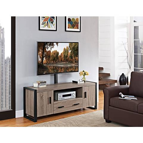 Urban Blend Driftwood 2-Drawer TV Stand with Mount
