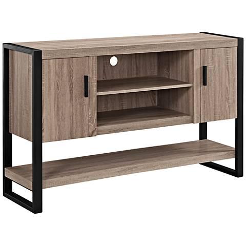 Urban Blend Driftwood Black 2-Door TV Console Table/Buffet