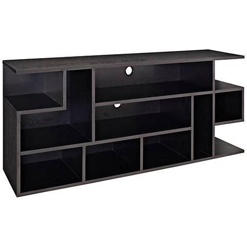 Jaxon Black Wood TV Stand