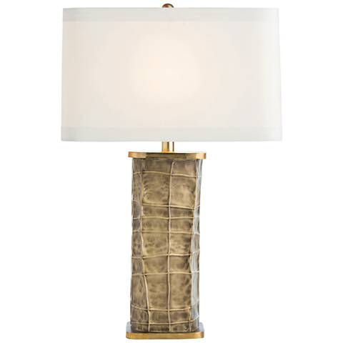 Arteriors Home Seville Double-Brass Faceted Table Lamp
