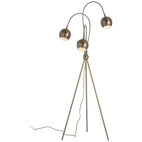 Arteriors Home Wade Brass Adjustable Tripod Floor Lamp