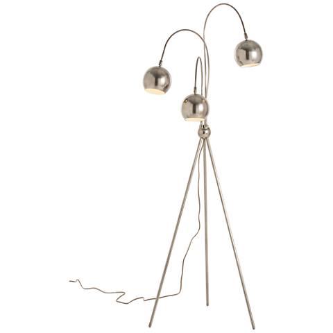 Arteriors Home Wade Silver Adjustable Tripod Floor Lamp