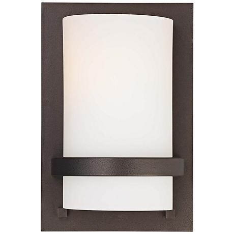 """Fieldale Lodge 10"""" High Smoked Iron Wall Sconce"""