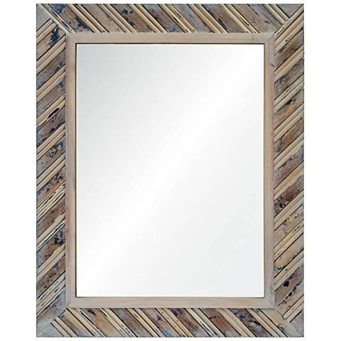 "Dilegno Natural Wood 24"" x 30"" Rectangular Wall Mirror"
