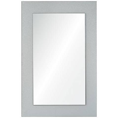 "Ziegler White and Silver 24"" x 36""  Wall Mirror"