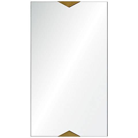 "Byzantine Gold 20"" x 40"" Rectangular Wall Mirror"