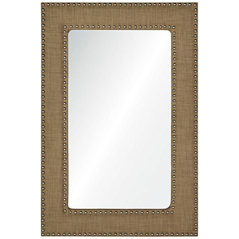 "Ramsey Linen 24"" x 36"" Rectangular Wall Mirror"