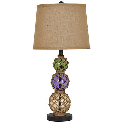 Crestview Costal Floats Multi-Color Glass Table Lamp