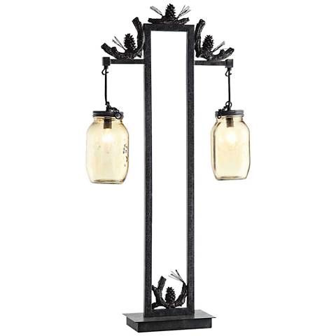 Crestview Collection Fire Catcher Rustic Metal Table Lamp
