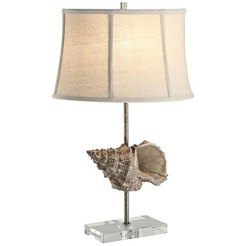 Crestview Shell Toasted Sand Table Lamp