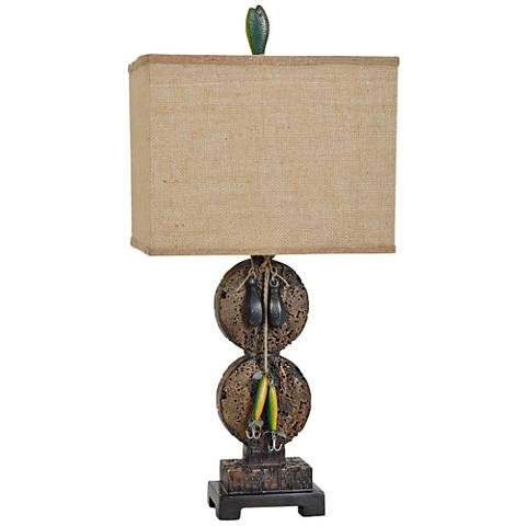 Crestview Collection Fishing Supply's Cork Table Lamp