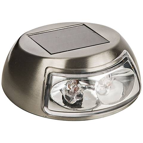"Marlow 3 1/2"" Wide Stainless Steel Mini Solar LED Deck Light"