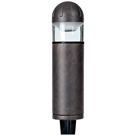 "Chase 8"" High Bronze Low Voltage Bollard Landscape Light"