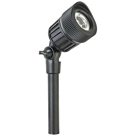 "Gregory 8""H Black Aluminum Low Voltage LED Micro Spot Light"