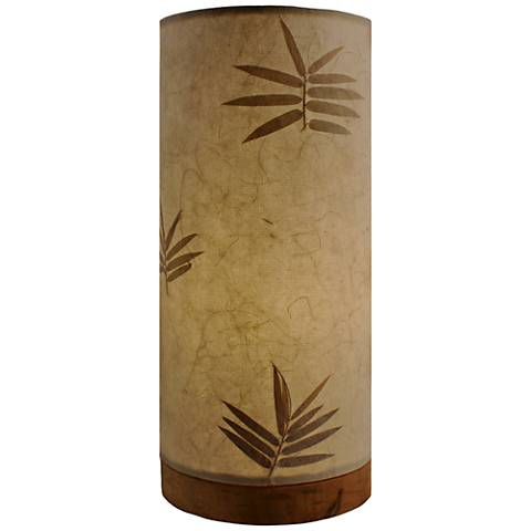 """Eangee 13""""H Paper Cylinder Bamboo Hand-Made Small Table Lamp"""