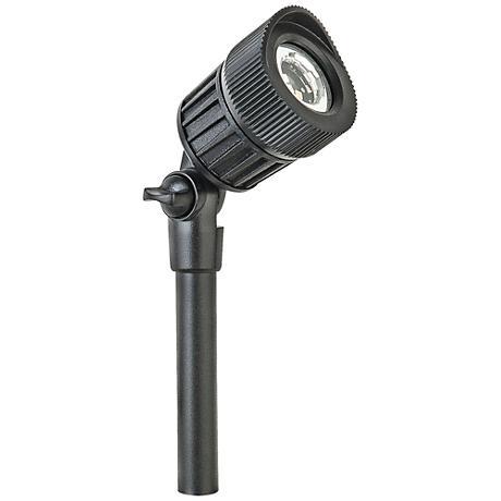 """Gregory 4 1/4"""" High Black Low Voltage LED Junior Spot Light"""