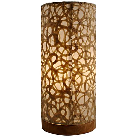 Eangee Paper Cylinder Swirl Hand-Made Small Table Lamp