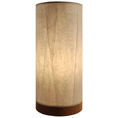 Eangee Paper Cylinder Glacier Hand-Made Small Table Lamp