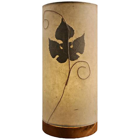 Eangee Paper Cylinder Mulberry Hand-Made Small Table Lamp