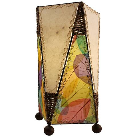 Eangee Trapezoid Multicolor Hand-Made Paper Table Lamp