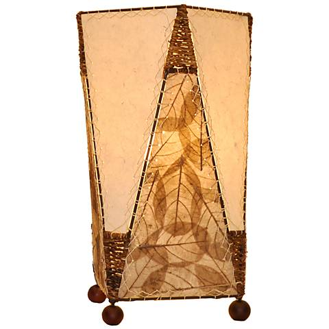 Eangee Trapezoid Natural Hand-Made Paper Accent Table Lamp