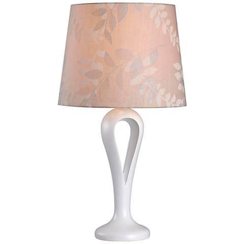 Kenroy Home Parfume White Table Lamp