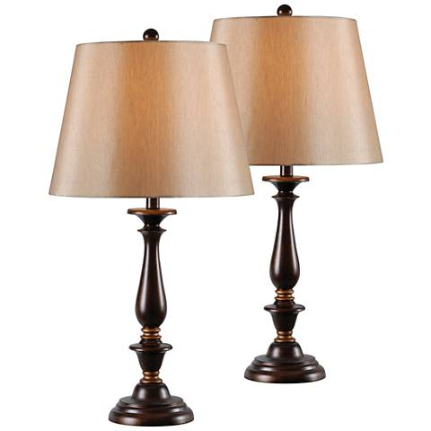 Kenroy Home Gavin Golden Flecked Bronze Table Lamp Set of 2