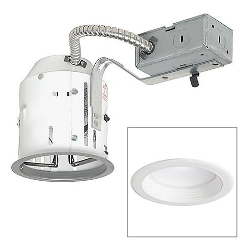 """4"""" Non-IC Remodel 10W LED Complete Recessed Light Kit"""