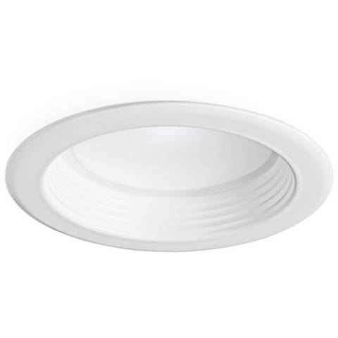 "4"" White Baffle 13W Dimmable LED Retrofit Trim in White"
