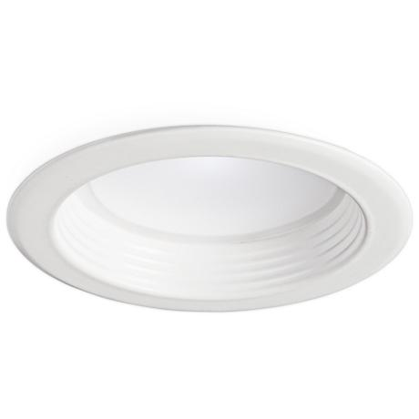"""4"""" White Baffle 13W Dimmable LED Retrofit Trim in White"""