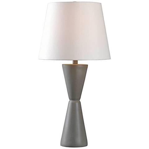 Kenroy Home Tiempo Concrete Table Lamp