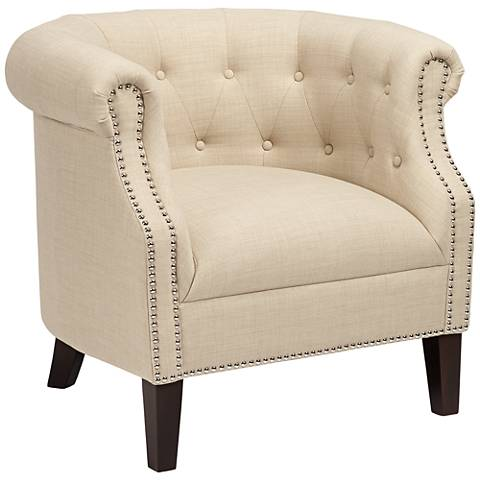 Neve Heirloom Natural Tufted Accent Chair