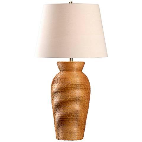 Kenroy Home Plait Light Rattan Table Lamp