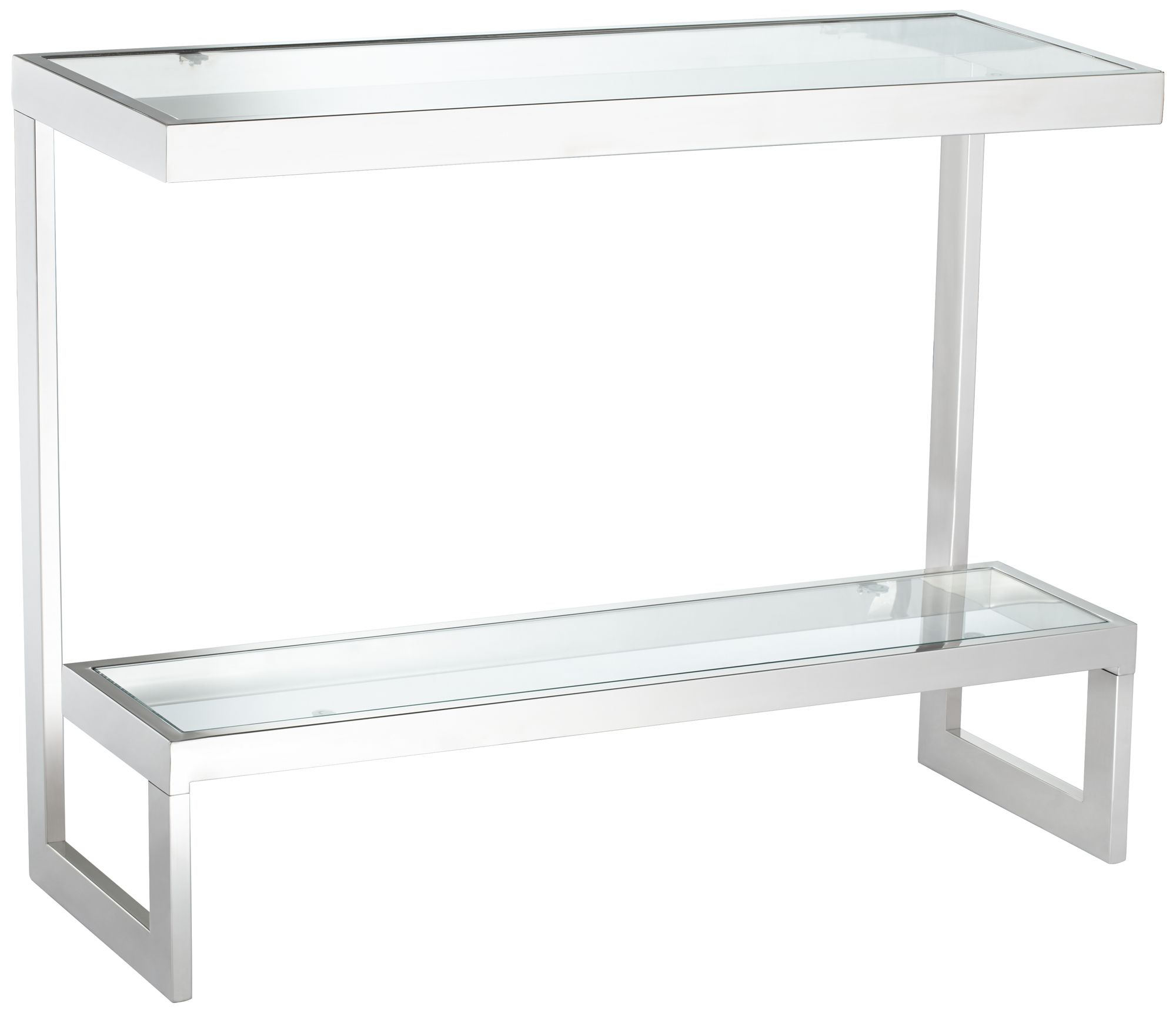 Rico Polished Stainless Steel 1 Shelf Console Table