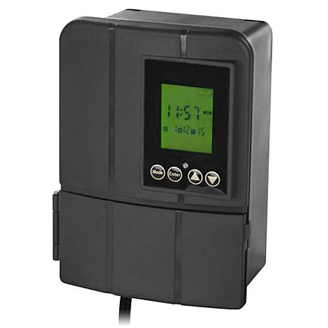 Black Low Voltage 200 Watt Transformer with Sunwise Control