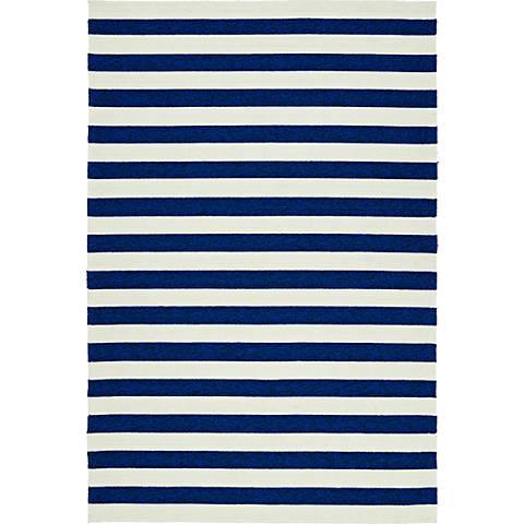 Kaleen Escape ESC03-22 Navy and White Striped Area Rug
