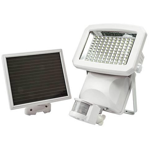 """James 13 3/4""""H White Solar LED Motion Sensor Security Light"""