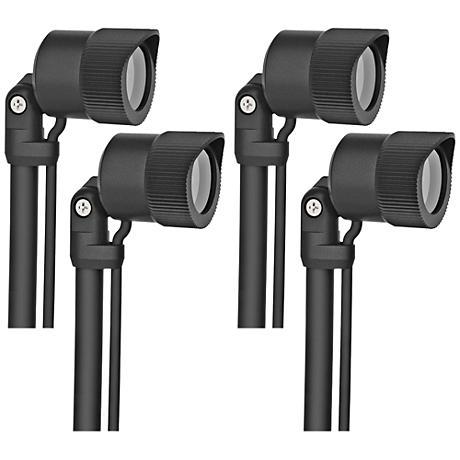 "Carson 12"" High Black Low Voltage 4-Pack LED Nano Spot Light"
