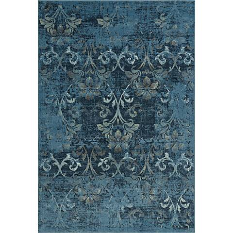 Dalyn Beckham BC1244 Antiqued Blue Area Rug
