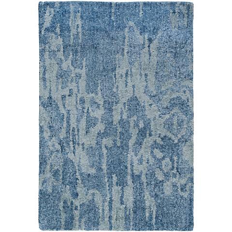 Surya Gemini Blue Bamboo Silk Area Rug