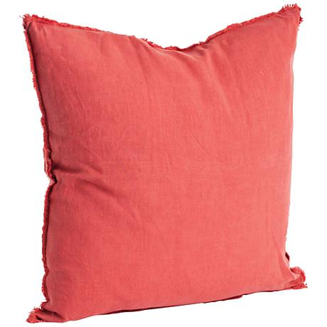 """Graciella Rouge Red 20"""" Square Stone Washed Pillow"""
